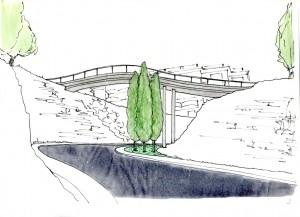 Pont que salva la baixada del Cargol